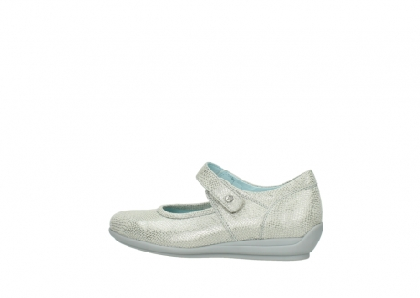 wolky mary janes 00385 noble 20120 off white silver printed leather_2