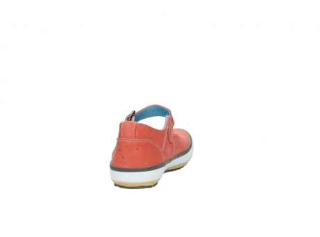 wolky mary janes 01226 tour 20530 coral red leather_8