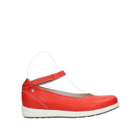 wolky chaussures a bride 02422 magnetic 30500 cuir rouge
