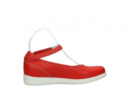wolky chaussures a bride 02422 magnetic 30500 cuir rouge_12