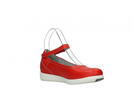 wolky chaussures a bride 02422 magnetic 30500 cuir rouge_16