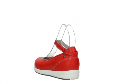 wolky chaussures a bride 02422 magnetic 30500 cuir rouge_5