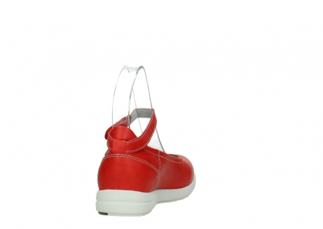wolky chaussures a bride 02422 magnetic 30500 cuir rouge_8
