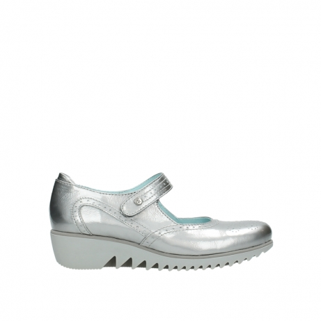 wolky mary janes 03819 daisy 80200 grey patent metallic leather