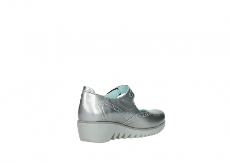 wolky mary janes 03819 daisy 80200 grey patent metallic leather_10