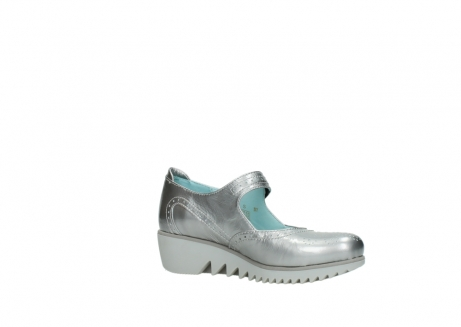 wolky mary janes 03819 daisy 80200 grey patent metallic leather_15