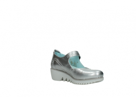 wolky mary janes 03819 daisy 80200 grey patent metallic leather_16