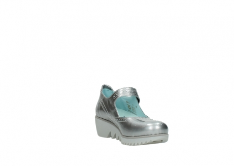 wolky mary janes 03819 daisy 80200 grey patent metallic leather_17