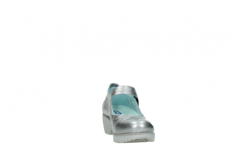 wolky mary janes 03819 daisy 80200 grey patent metallic leather_18