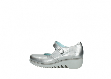wolky mary janes 03819 daisy 80200 grey patent metallic leather_2