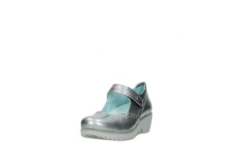 wolky mary janes 03819 daisy 80200 grey patent metallic leather_21