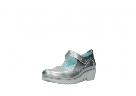 wolky mary janes 03819 daisy 80200 grey patent metallic leather_22