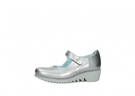 wolky mary janes 03819 daisy 80200 grey patent metallic leather_24