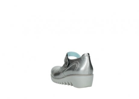 wolky mary janes 03819 daisy 80200 grey patent metallic leather_5