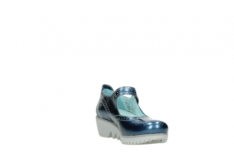 wolky mary janes 03819 daisy 80820 denim patent metallic leather_17