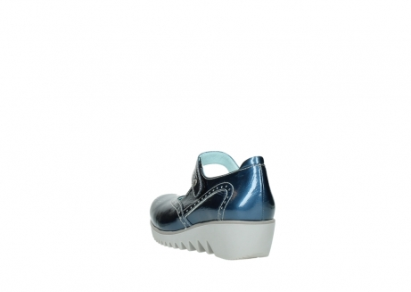 wolky mary janes 03819 daisy 80820 denim patent metallic leather_5