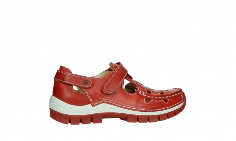 Kinderschoenen 26.Wolky Shoes 04703 Move Scarlet Red Leather Order Now Biggest Wolky