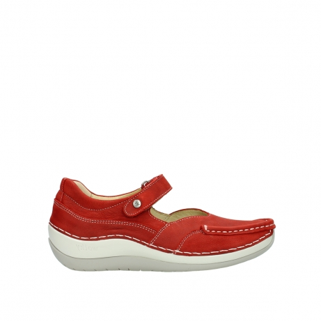 wolky chaussures a bride 04804 elation 10570 nubuck rouge