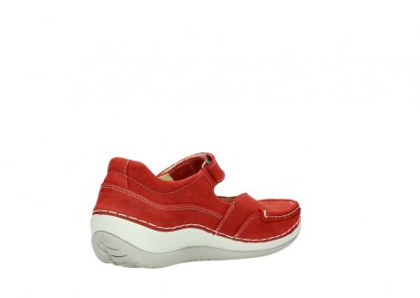 wolky chaussures a bride 04804 elation 10570 nubuck rouge_10