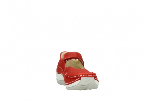 wolky chaussures a bride 04804 elation 10570 nubuck rouge_18