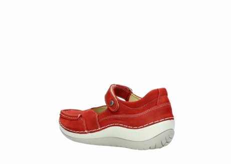 wolky chaussures a bride 04804 elation 10570 nubuck rouge_4