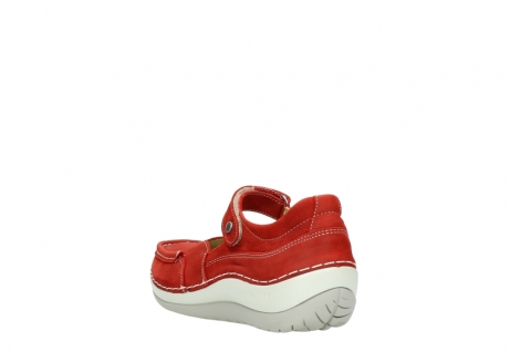 wolky chaussures a bride 04804 elation 10570 nubuck rouge_5