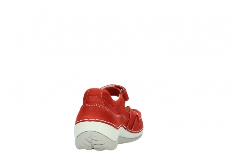 wolky chaussures a bride 04804 elation 10570 nubuck rouge_8