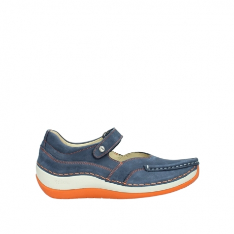 wolky riemchenschuhe 04804 elation 10830 denim orange nubuck