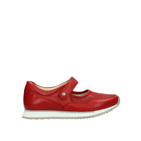 wolky bandschoenen 05801 e step 70570 rood zomer leer