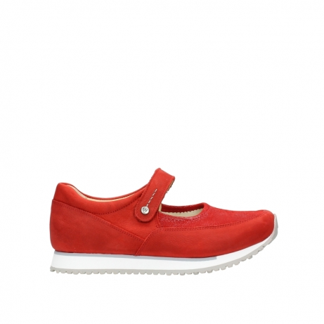 wolky riemchenschuhe 05805 e step 11500 rot stretch nubuck