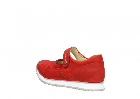 wolky riemchenschuhe 05805 e step 11500 rot stretch nubuck_4