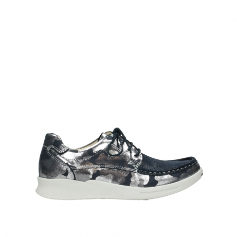 wolky lace up shoes 05901 one 14870 blue summer camouflage stretchnubuck