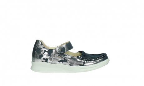 wolky bandschoenen 05902 two 14870 blauw camouflage stretch_1