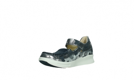 wolky bandschoenen 05902 two 14870 blauw camouflage stretch_10