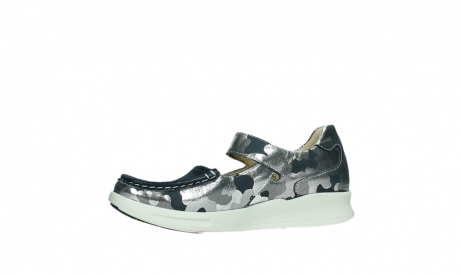 wolky bandschoenen 05902 two 14870 blauw camouflage stretch_12