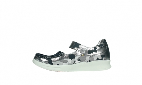 wolky bandschoenen 05902 two 14870 blauw camouflage stretch_13