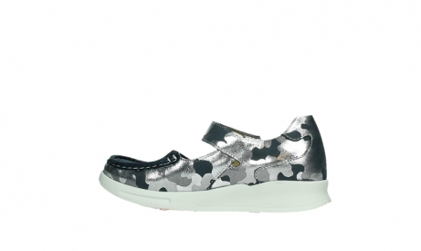 wolky bandschoenen 05902 two 14870 blauw camouflage stretch_14