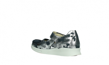 wolky bandschoenen 05902 two 14870 blauw camouflage stretch_16