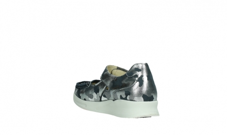 wolky bandschoenen 05902 two 14870 blauw camouflage stretch_17