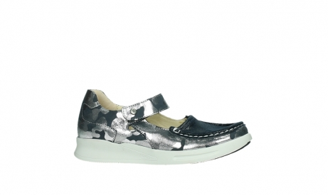 wolky bandschoenen 05902 two 14870 blauw camouflage stretch_2