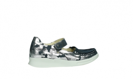 wolky bandschoenen 05902 two 14870 blauw camouflage stretch_24
