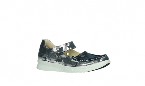 wolky bandschoenen 05902 two 14870 blauw camouflage stretch_3