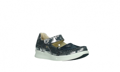 wolky bandschoenen 05902 two 14870 blauw camouflage stretch_4