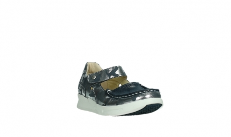 wolky bandschoenen 05902 two 14870 blauw camouflage stretch_5