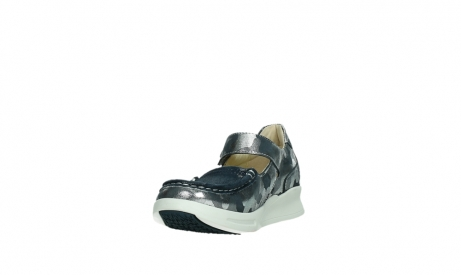 wolky bandschoenen 05902 two 14870 blauw camouflage stretch_9