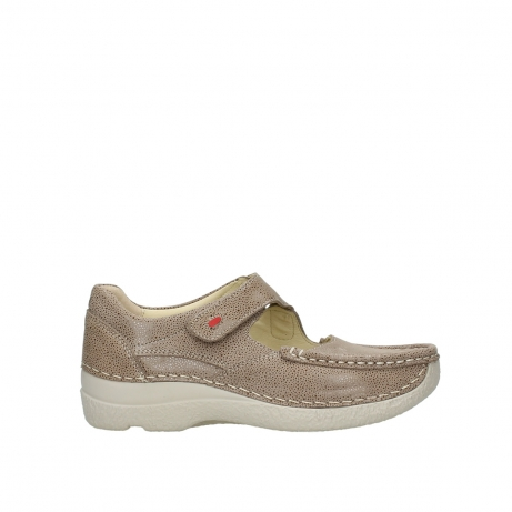 wolky riemchenschuhe 06247 roll fever 90150 taupe dots nubuck
