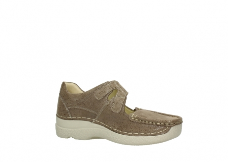 wolky riemchenschuhe 06247 roll fever 90150 taupe dots nubuck_15