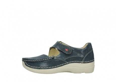 wolky mary janes 06247 roll fever 90820 denim blue dots nubuck_1