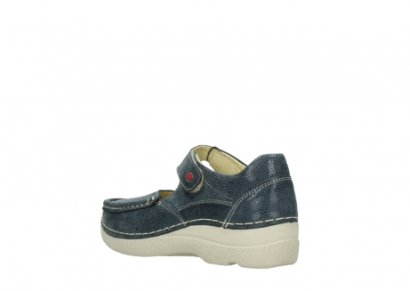 wolky mary janes 06247 roll fever 90820 denim blue dots nubuck_4