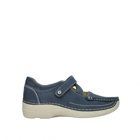 wolky bandschoenen 06291 seamy cross 10820 denim blauw nubuck